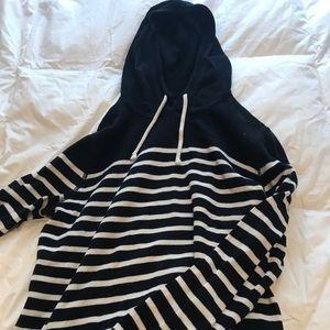 J. Crew hooded stripe sweater